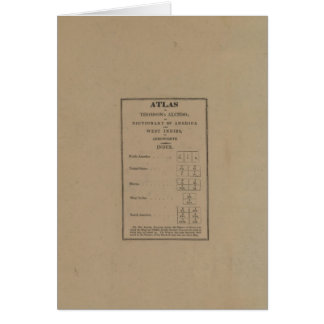Índice al atlas tarjeta