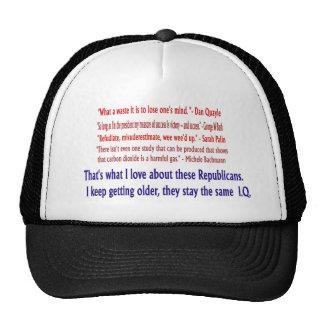Índice de inteligencia republicano. Gorra