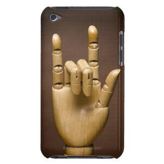 Índice de madera de la mano y pequeño dedo ampliad iPod touch carcasa