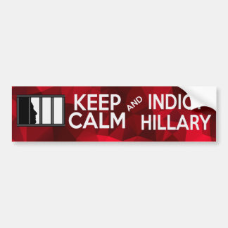 Indict Hillary Car Bumper Sticker