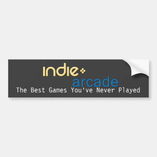Indie Arcade: The Best Games You've Never Played Bumper Sticker