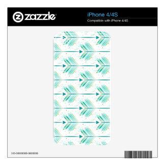 Indie arrow pattern iPhone 4 skin