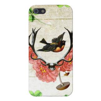 indie artsy de la seta de las flores de los trébol iPhone 5 fundas
