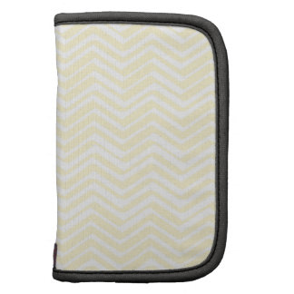 Indie Chevron Gold and White Pattern Planner