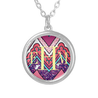 Indie Chevron Silver Plated Necklace