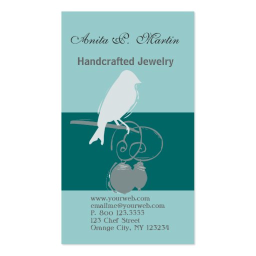 Indie Handcrafted Jewelry Bead  Artist Business Cards