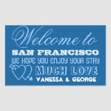 Indie hearts navy type out of town gift bag favor stickers