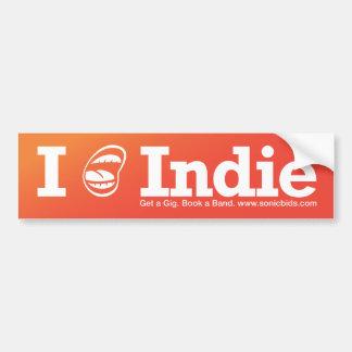 Indie I [del ☺] Etiqueta De Parachoque