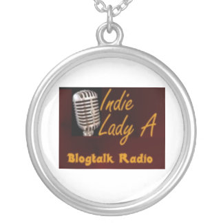 Indie Lady A Round Pendant Necklace