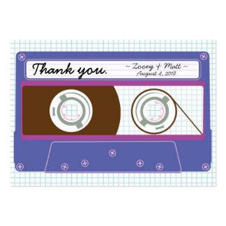 Indie Mixtape Indigo Purple Wedding Favor Tags Business Cards