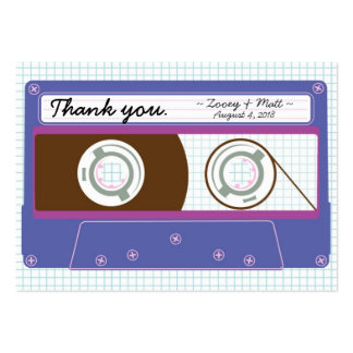 Indie Mixtape (Indigo / Purple) Wedding Favor Tags Large Business Card