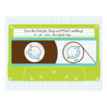 Indie Mixtape (Lime/Sky) Save the Date Postcard