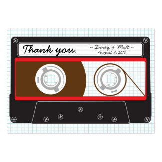 Indie Mixtape Red Black Wedding Favor Tags Business Card Template