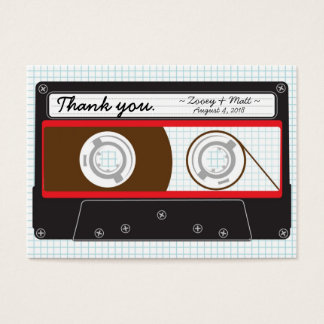 Indie Mixtape (Red / Black) Wedding Favor Tags Large Business Card