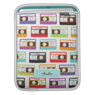Indie Mixtapes Retro 80s Cassette Tape Pattern Sleeve For iPads