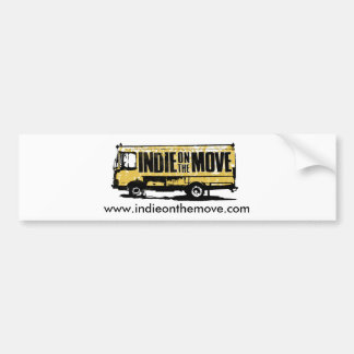 Indie on the Move Bumper Sticker