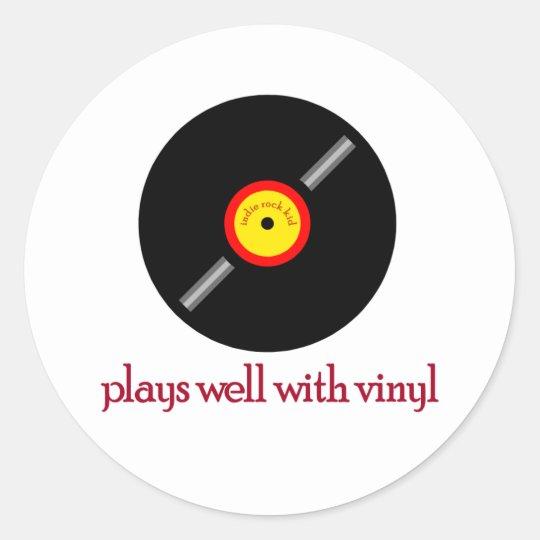 Indie Rock Kid Back Classic Round Sticker