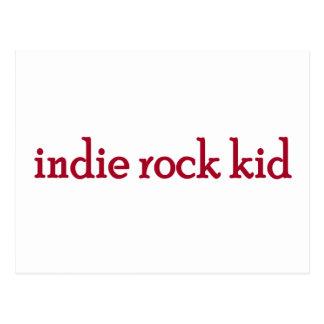 Indie Rock Kid Postcard