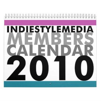 Indie Style Media Members Calendar 2010
