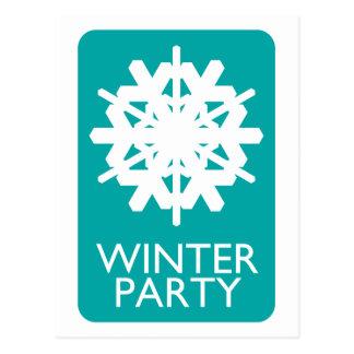 indie winter party postcard