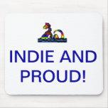 Indie y Mousepad orgulloso Alfombrilla De Ratones