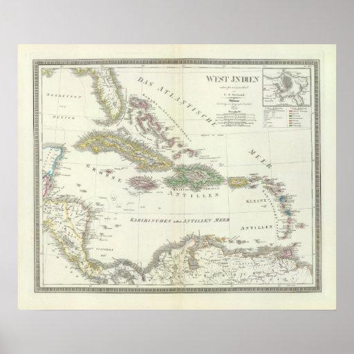 Indien del oeste - las Antillas Posters
