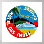 Indies del DES del hotel de Batavia Poster