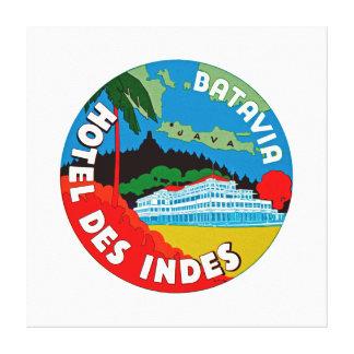 Indies del DES del hotel de Batavia - XL Impresión En Lienzo