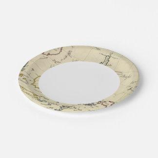 Indies del este plato de papel de 7 pulgadas