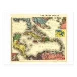 Indies del oeste de IndiesPanoramic MapWest Postal