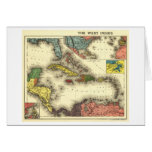 Indies del oeste de IndiesPanoramic MapWest Tarjeta De Felicitación