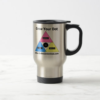 """Indies Unlimited """"Grow Your Dot"""" Gear Travel Mug"""
