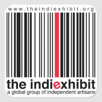 indiExhibit Logo Square Sticker