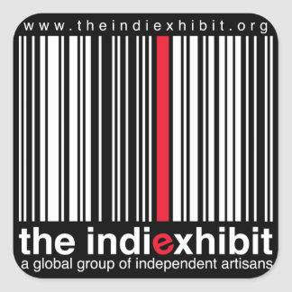 indiExhibit Logo Square Sticker