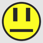 Indifferent face round stickers