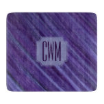 Indifferent Kitchen | Monogram Purple Lilac Plum | Cutting Board