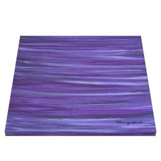 Indifferent Original Handpainted Purple Abstract Canvas Print