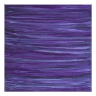 Indifferent Original Handpainted Purple Abstract Poster
