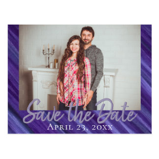 Indifferent Save the Date | Purple Violet Lavender Postcard