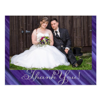 Indifferent Thank You | Royal Purple Violet Lilac Postcard