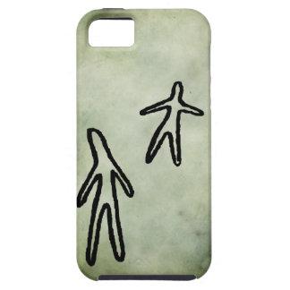 Indigenous Australian aboriginal symbols linocut iPhone SE/5/5s Case