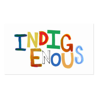 Indigenous native people culture fun colorful art business card