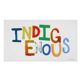 Indigenous native people culture fun colorful art poster