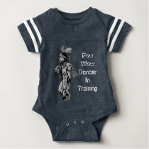 Indigenous Pow Wow Dancer in Training Baby Bodysuit