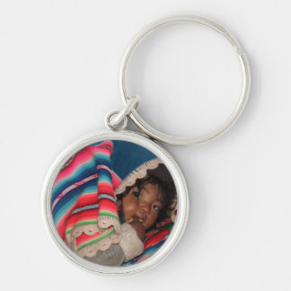 Indigenous South American Child - Bolivia Baby Key Chains