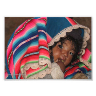 Indigenous South American Child - Bolivia Baby Photographic Print