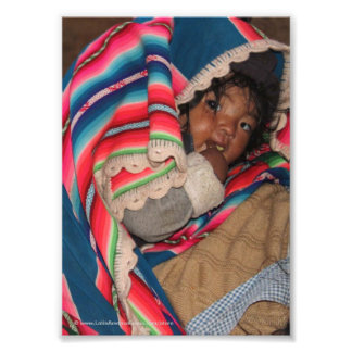 Indigenous South American Child - Bolivia Baby Photograph