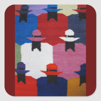 Indigenous women square sticker