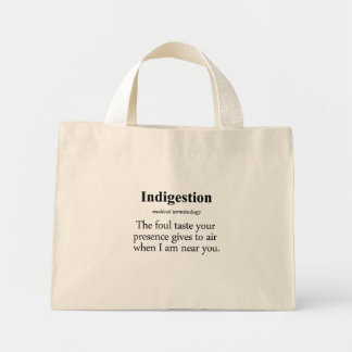 Indigestion Definition Tote Bags