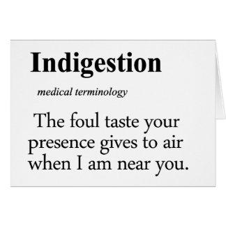 Indigestion Definition Card